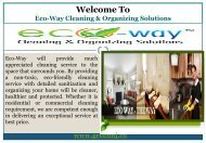 Cleaning Company in  Montclair NJ| Eco-Way Cleaning & Organizing Solutions