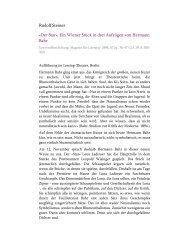 «Der Star». Ein Wiener Stück in drei Aufzügen von Hermann Bahr