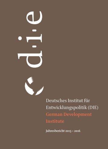 Deutsches Institut für Entwicklungspolitik (DIE) German Development Institute