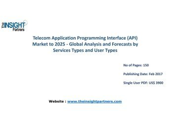 Telecom Application Programming Interface (API) Market is expected to grow at high CAGR during the forecast period 2016-2025 |The Insight Partners