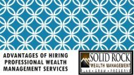 Advantages of Hiring Professional Wealth Management Services