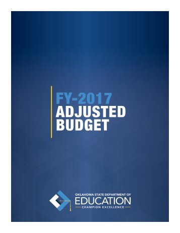 FY-2017 ADJUSTED BUDGET
