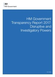 HM Government Transparency Report 2017 Disruptive and Investigatory Powers