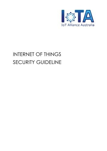 INTERNET OF THINGS SECURITY GUIDELINE