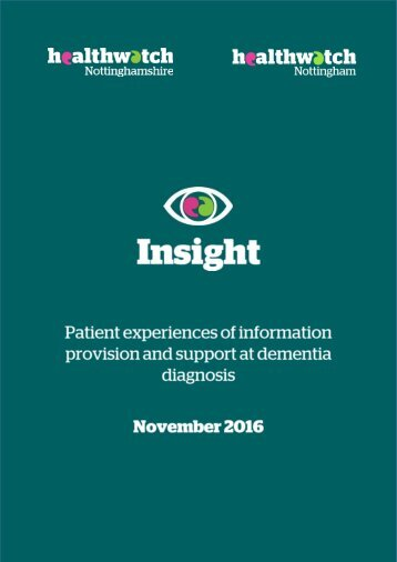 1   Information provision and support at dementia diagnosis