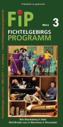 Fichtelgebirgs-Programm - März 2017
