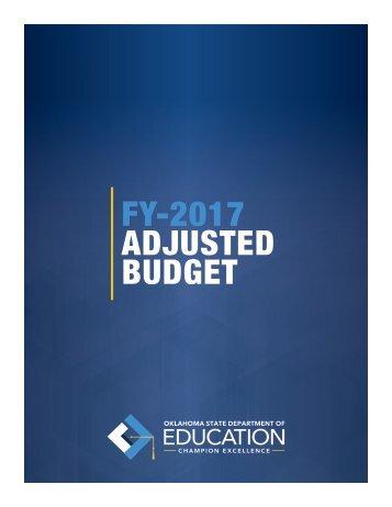 FY-2017 ADJUSTED BUDGET