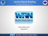 Severe Storm Briefing