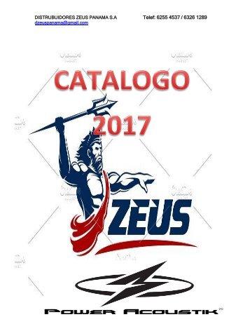catalogo 2017. D. Zeus