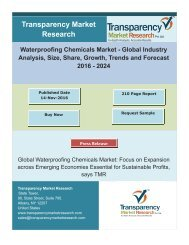 Waterproofing Chemicals Market Size, Share   Industry Trends Analysis Report, 2024