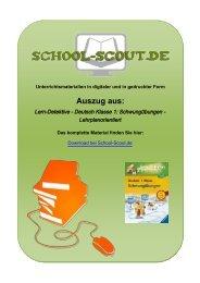 Lern-Detektive - Deutsch Klasse 1: Schwungübungen - School-Scout