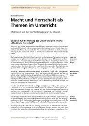 Macht und Herrschaft als Themen im Unterricht - Forum Politische ...