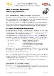 LEGO Mindstorms NXT-Roboter mit Java programmieren (pdf