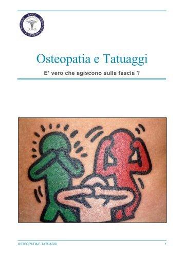 Osteopatia e Tatuaggi