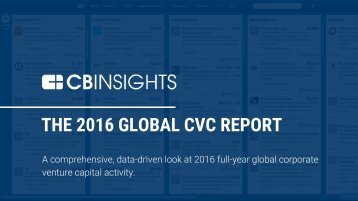 THE 2016 GLOBAL CVC REPORT