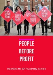 People Before Profit Manifesto for 2017 Assembly election