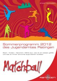 Der Matchball 2012 - Stadt Ratingen