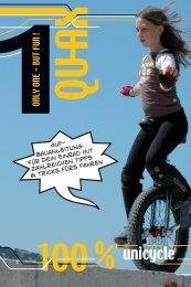 bauanleitung für Dein Einrad mit zahlreichen Tipps & Tricks fürs fahren