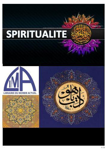 Spiritualité 2017
