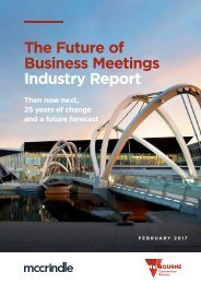 The Future of Business Meetings Industry Report