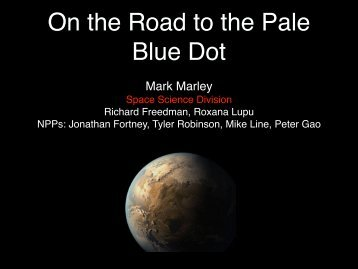 On the Road to the Pale Blue Dot