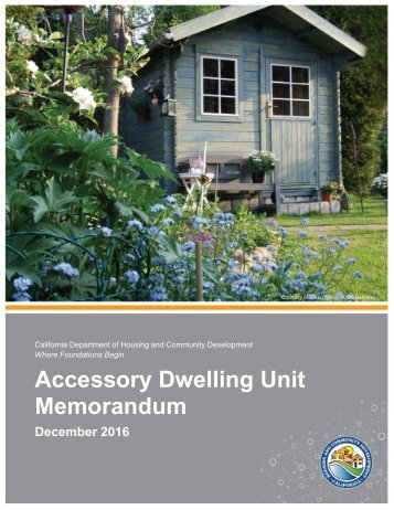 Accessory Dwelling Unit Memorandum
