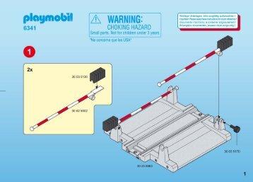 Playmobil 6341 - Notice de montage Playmobil 6341