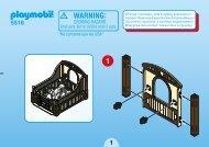 Playmobil 5516 - Notice de montage Playmobil 5516