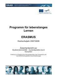 Programm für lebenslanges Lernen ERASMUS - DAAD