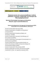 Definition, Ursachen, Diagnostik und Therapie - AWMF