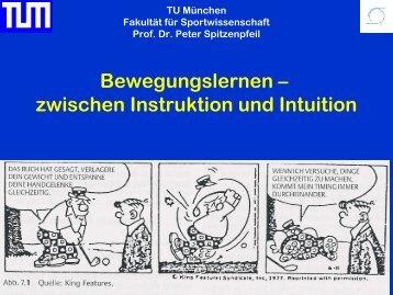 Motorisches Lernen/Techniktraining - blsv