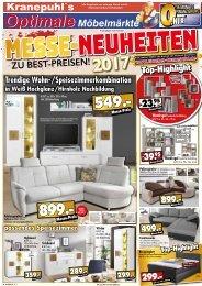 Kranepuhls optimale Möbelmärkte: Messe-Neuheiten zu Best-Preisen!