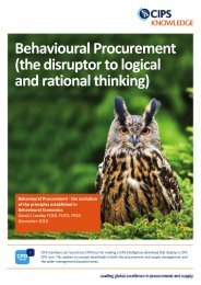 Behavioural Procurement (the disruptor to logical and rational thinking)