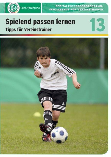 """DFB-Lehreinheit """"spielend Passen lernen """" - Impressum"""