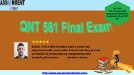 QNT 561 Final Exam Questions Pdf Download via Assignment E Help
