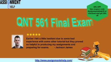 qnt 561 practice quiz You can view results after one or more students have taken the practice quiz  notes: students do not receive a grade for practice quizzes, even.