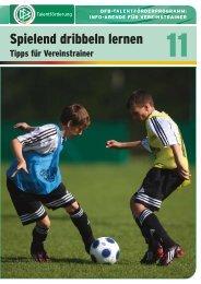Spielend dribbeln lernen - REGIOfussball.ch