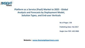 Platform as a Service (PaaS) Market Strategies, Future Trends and Forecast to 2025