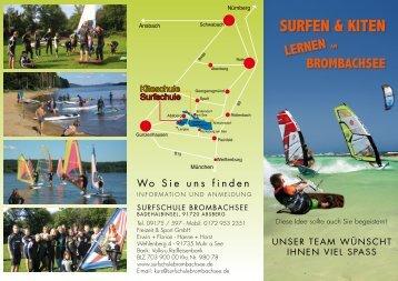 SURFEN & KITEN - Surfen am Brombachsee