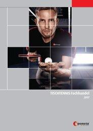 Sponeta - Tischtennis Katalog Fachhandel 2017 (deutsch)