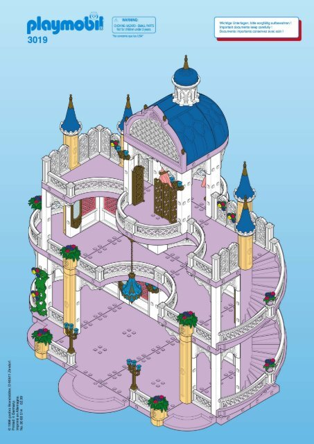 Playmobil chateau princesse chateau princesse playmobil for Notice de montage chateau princesse playmobil