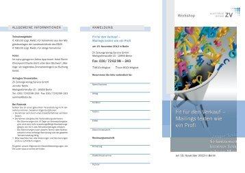 Fit für den Verkauf – Mailings texten wie ein Profi Fit für den Verkauf ...