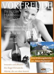 Vorfreude - Ihr Rötzer Hausbau-Magazin