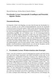Forschendes Lernen: konzeptuelle Grundlagen und Potenziale ...