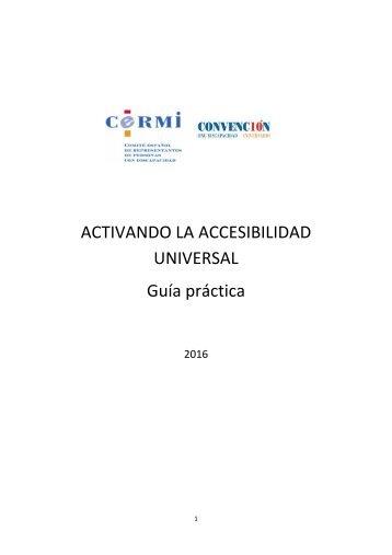 ACTIVANDO LA ACCESIBILIDAD UNIVERSAL Guía práctica