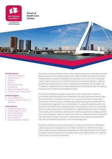 Factsheet School of Health Care