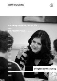 Selbst organisiertes Lernen SOL an Zürcher Mittelschulen