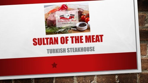 Sultan of the Meat