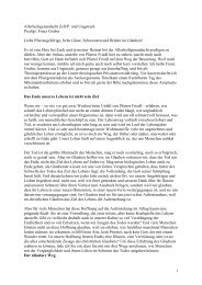 Allerheiligen Predigt 2010 - Pfarre Zell am Pettenfirst