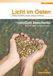 LICHTIMOSTEN_1/2011 Von Gott beschenkt